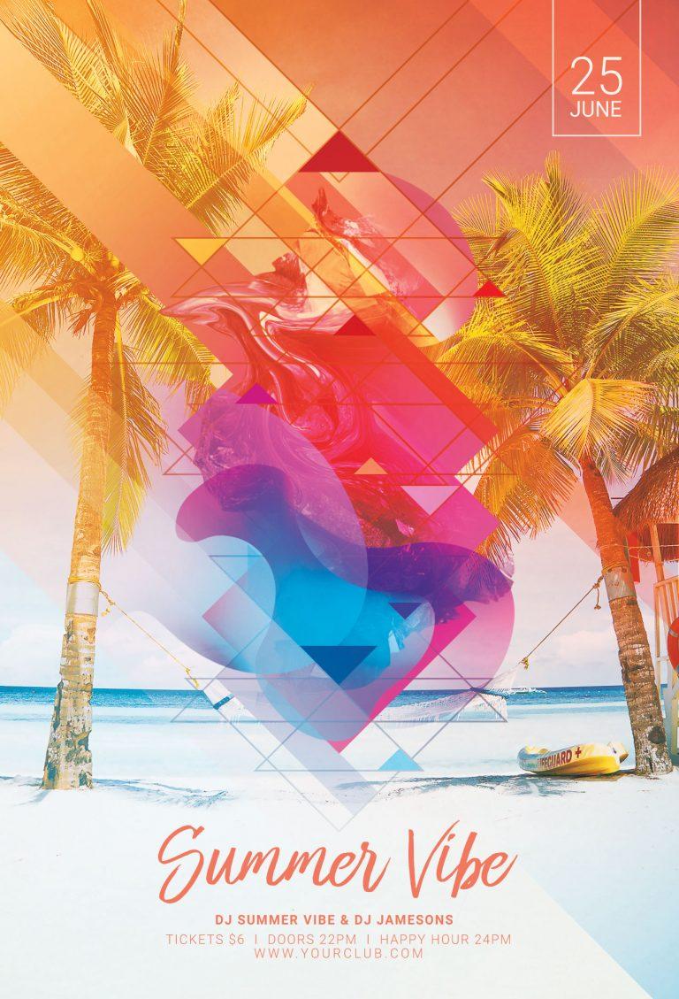 Summer Vibe Flyer Template