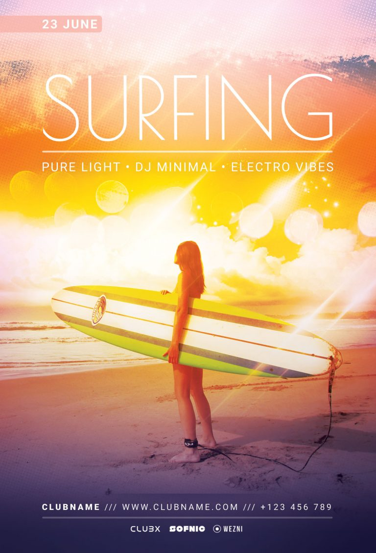 Surfing Flyer Template