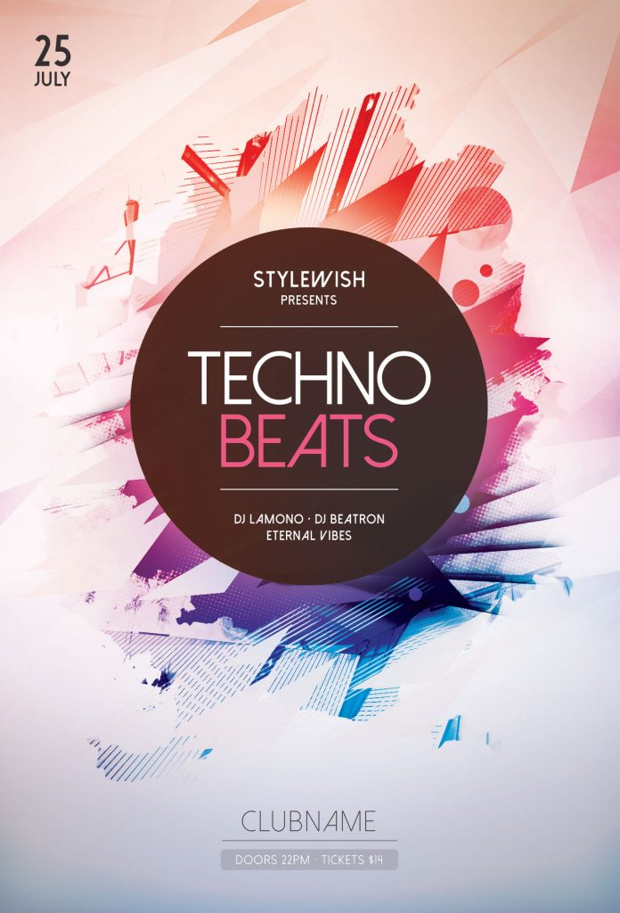 Techno Beats Flyer Template