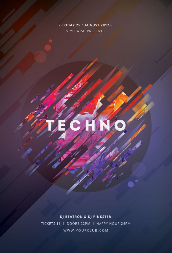 Techno Flyer Template
