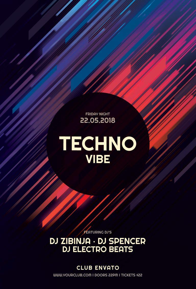 Techno Vibe Flyer Template