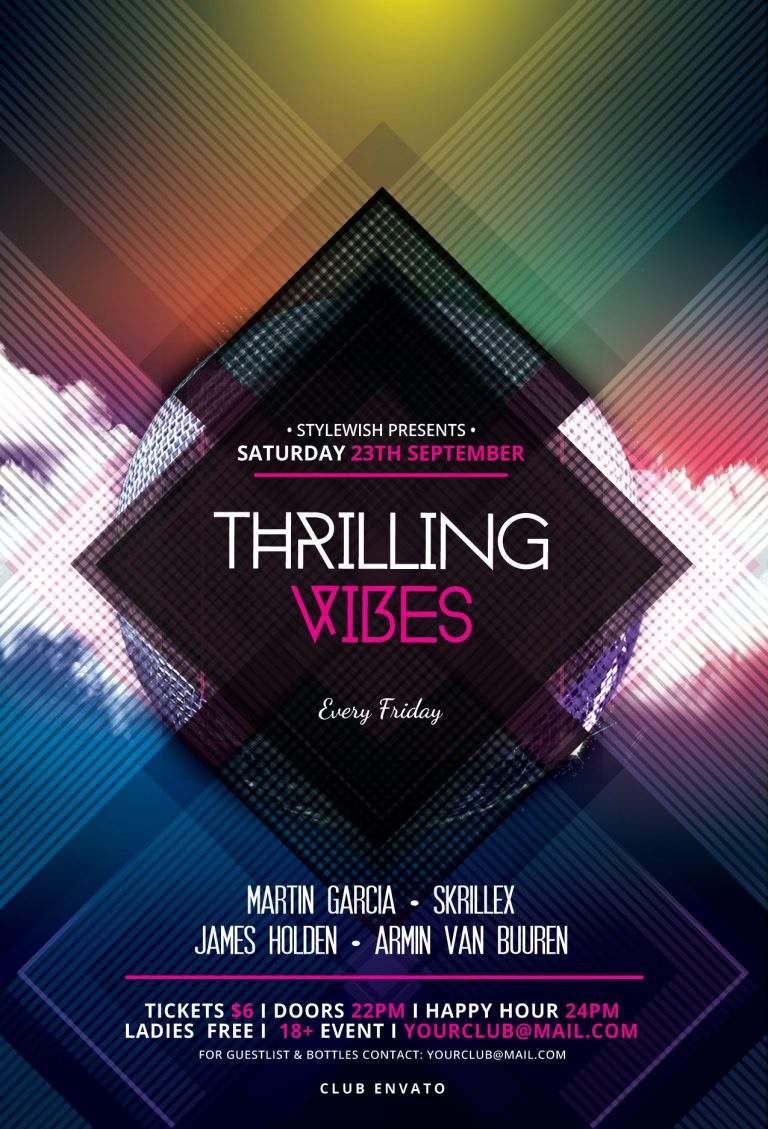 Thrilling Vibes Flyer Template