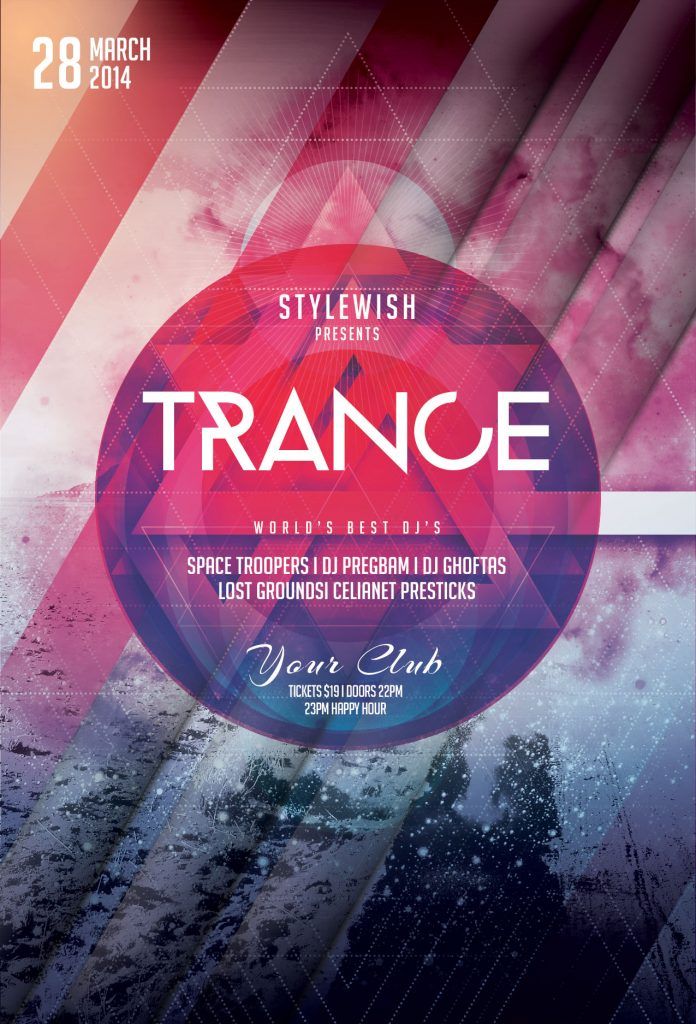 Trance Party Flyer Template