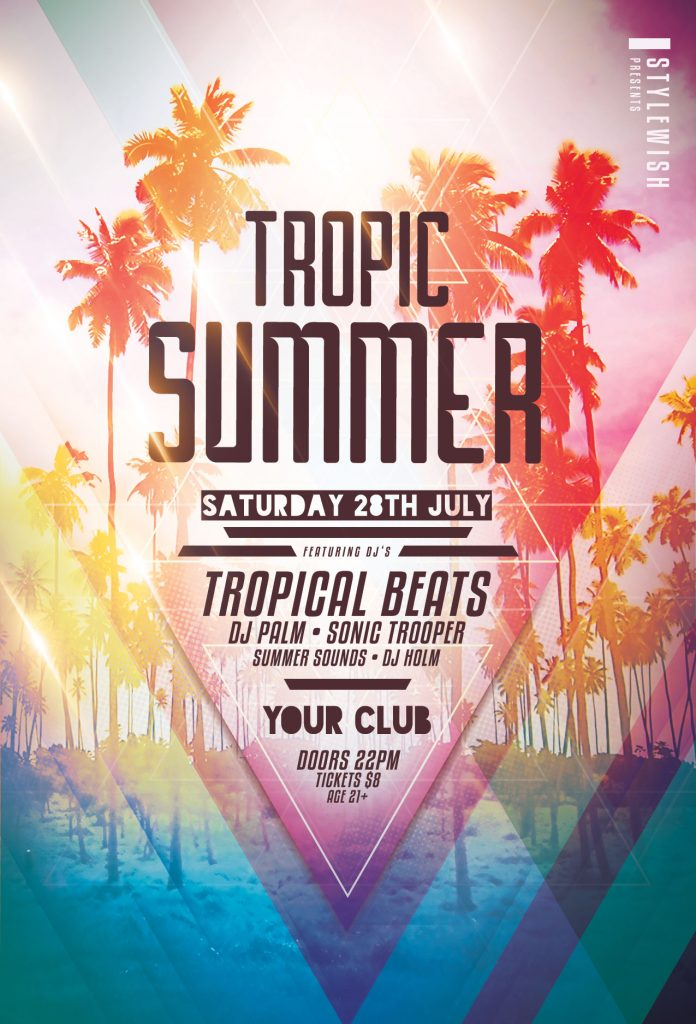 Tropic Summer Flyer Template