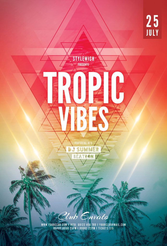 Tropic Vibes Flyer Template