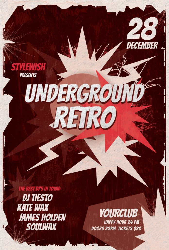 Underground Retro Flyer Template