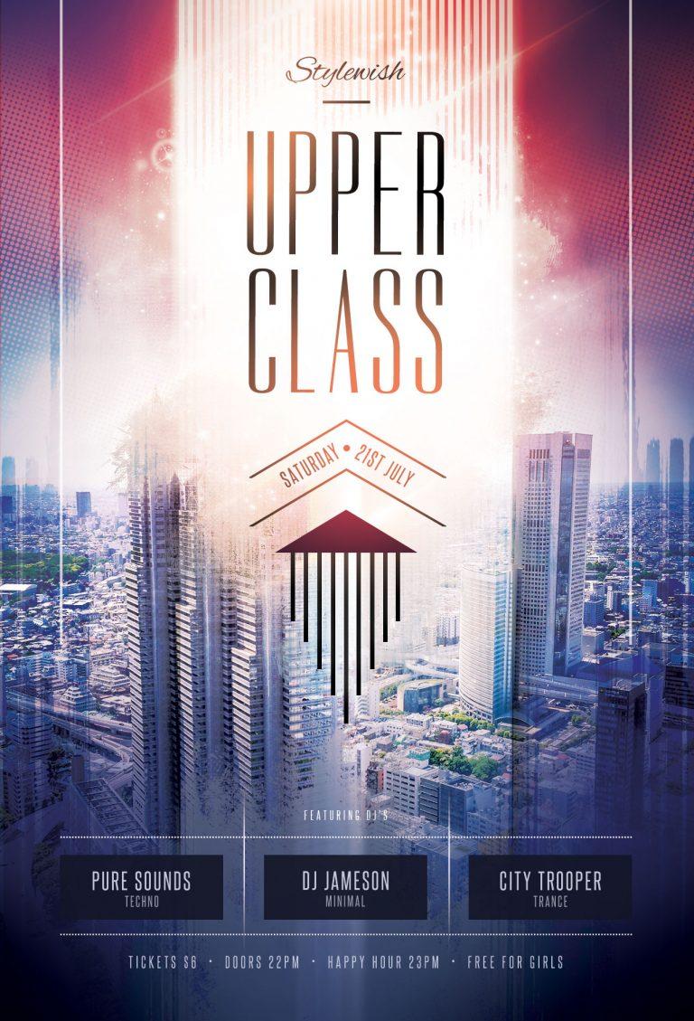 Upper Class Flyer Template