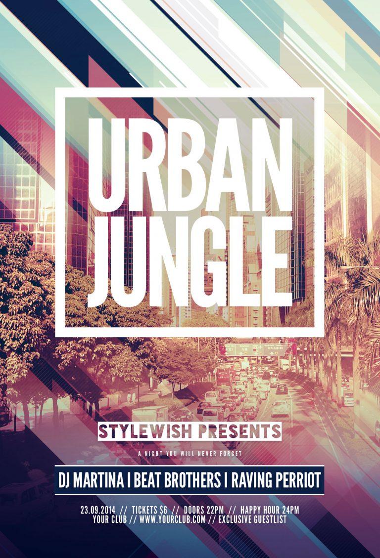 Urban Jungle Flyer Template