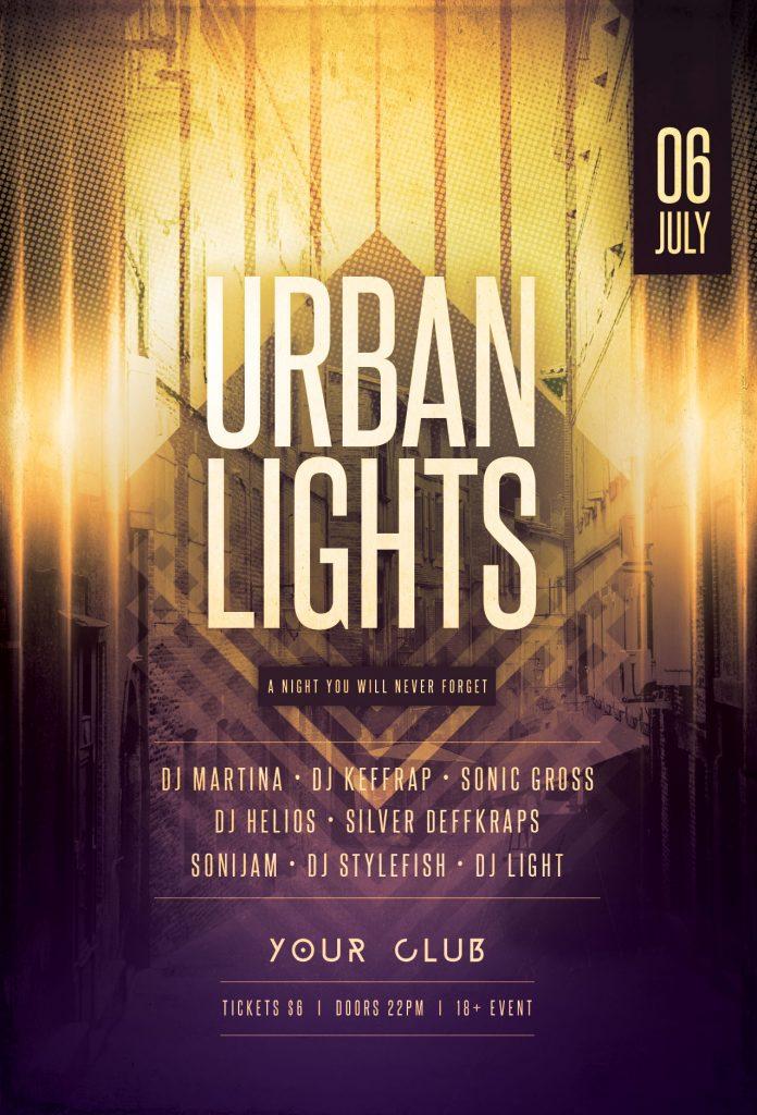 Urban Lights Flyer Template