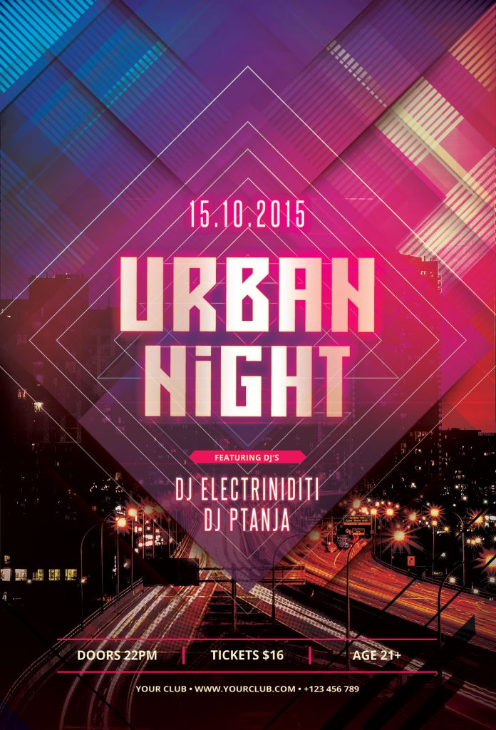 Urban Night Flyer Template