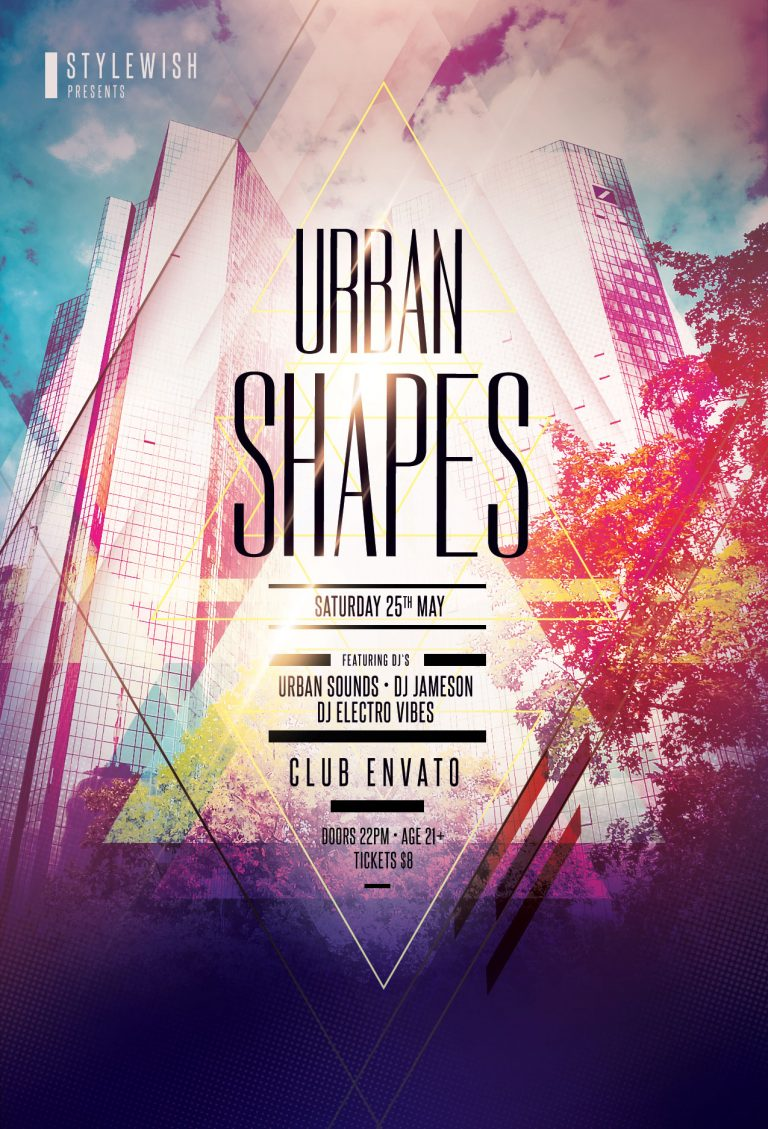 Urban Shapes Flyer Template