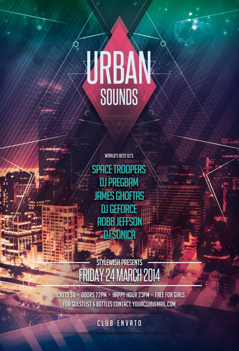 Urban Sounds Flyer Template