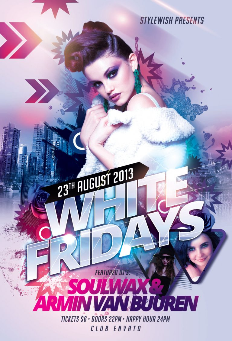 White Fridays Flyer Template