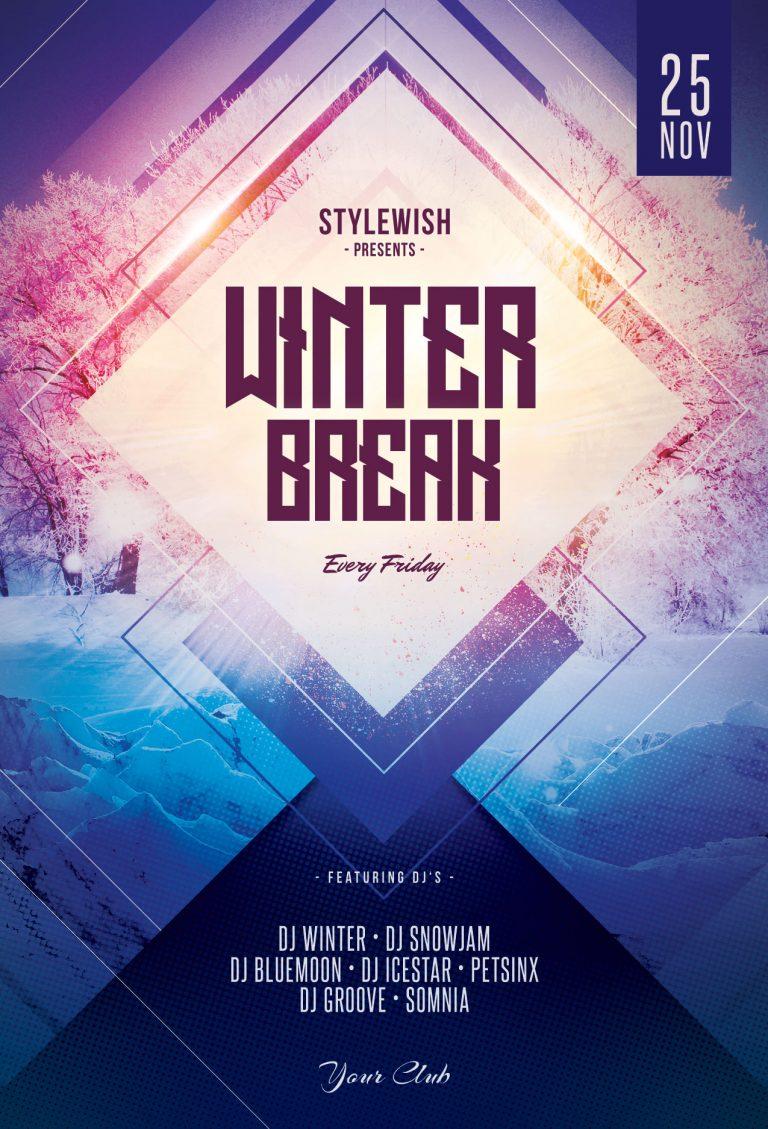 Winter Break Flyer Template