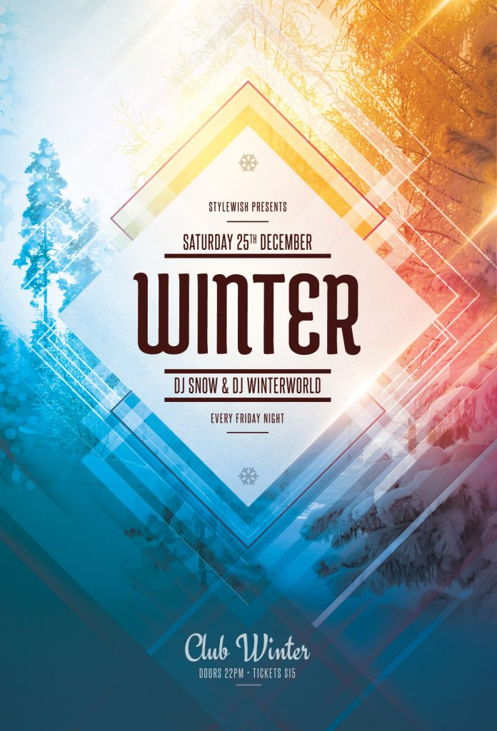 Winter Flyer Template