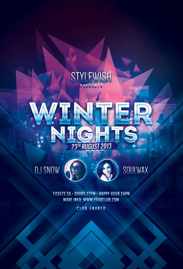 Winter Nights Flyer Template