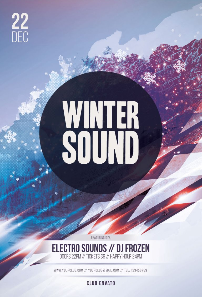 Winter Sound Flyer Template