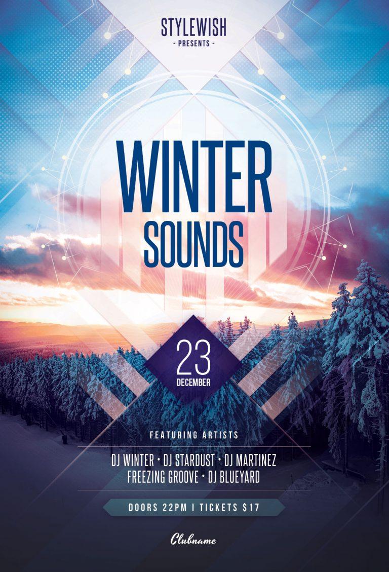 Winter Sounds Flyer Template