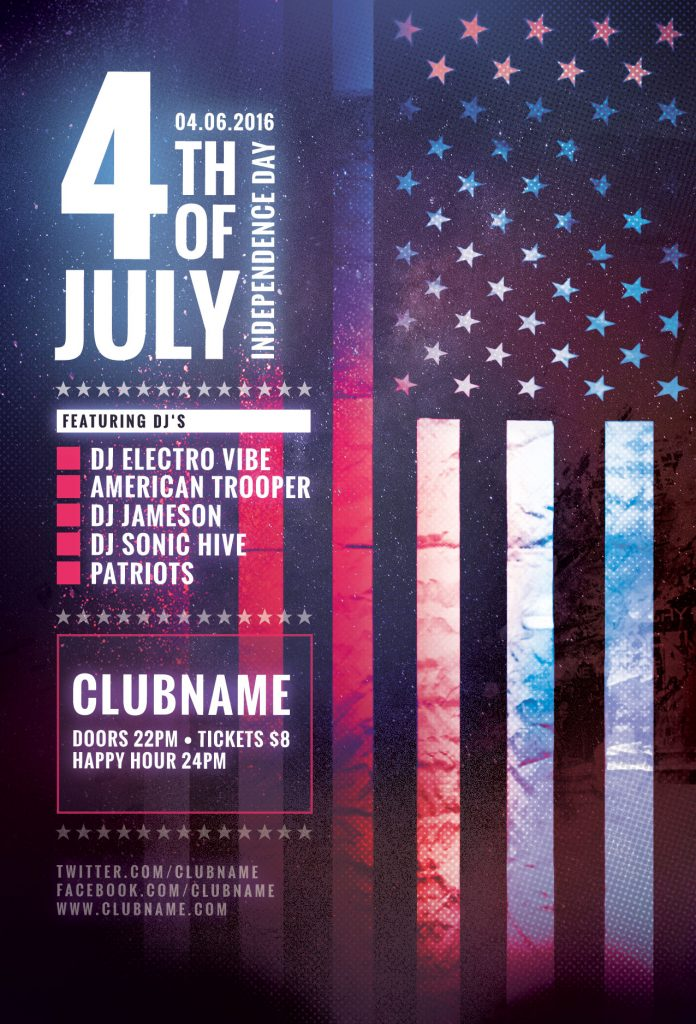 Fourth of July Flyer Template