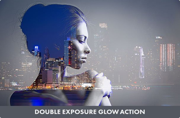 Double Exposure Glow Photoshop Action