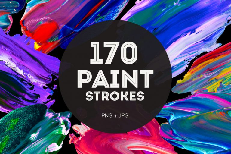 170 Real Paint Strokes