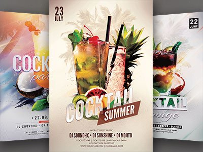 Cocktail Flyer Bundle