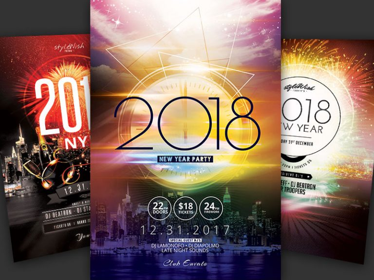 New Year Flyer Bundle Vol01