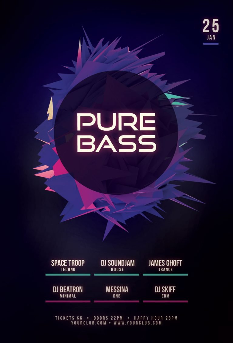 Free Pure Bass Flyer