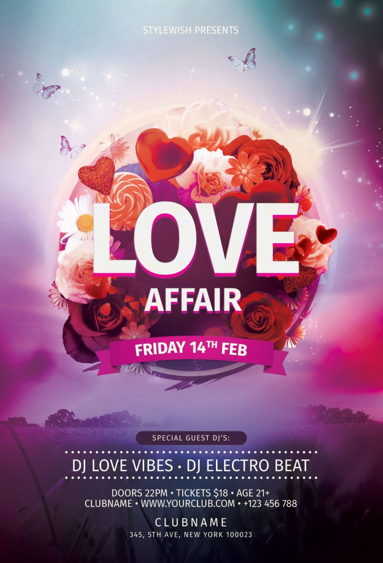 Love Affair Flyer