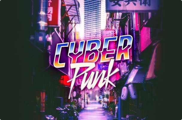 Cyberpunk Photoshop Action