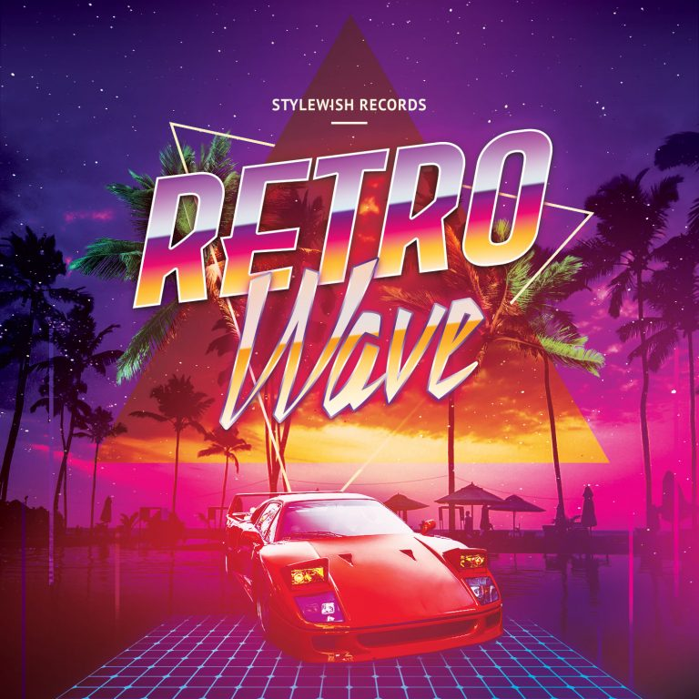 Retro Wave CD Cover Artwork