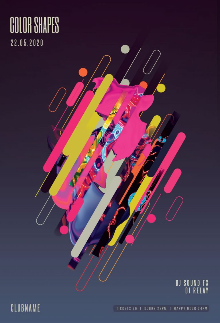 Color Shapes Flyer