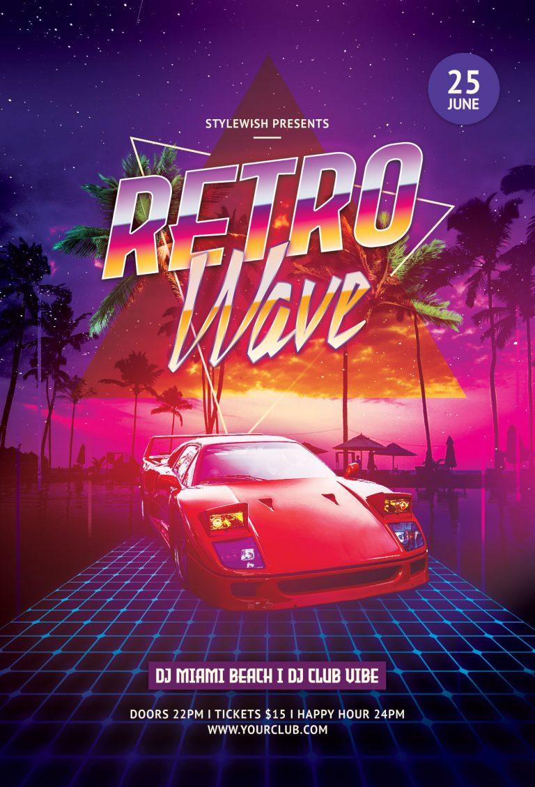 Retro Wave Flyer