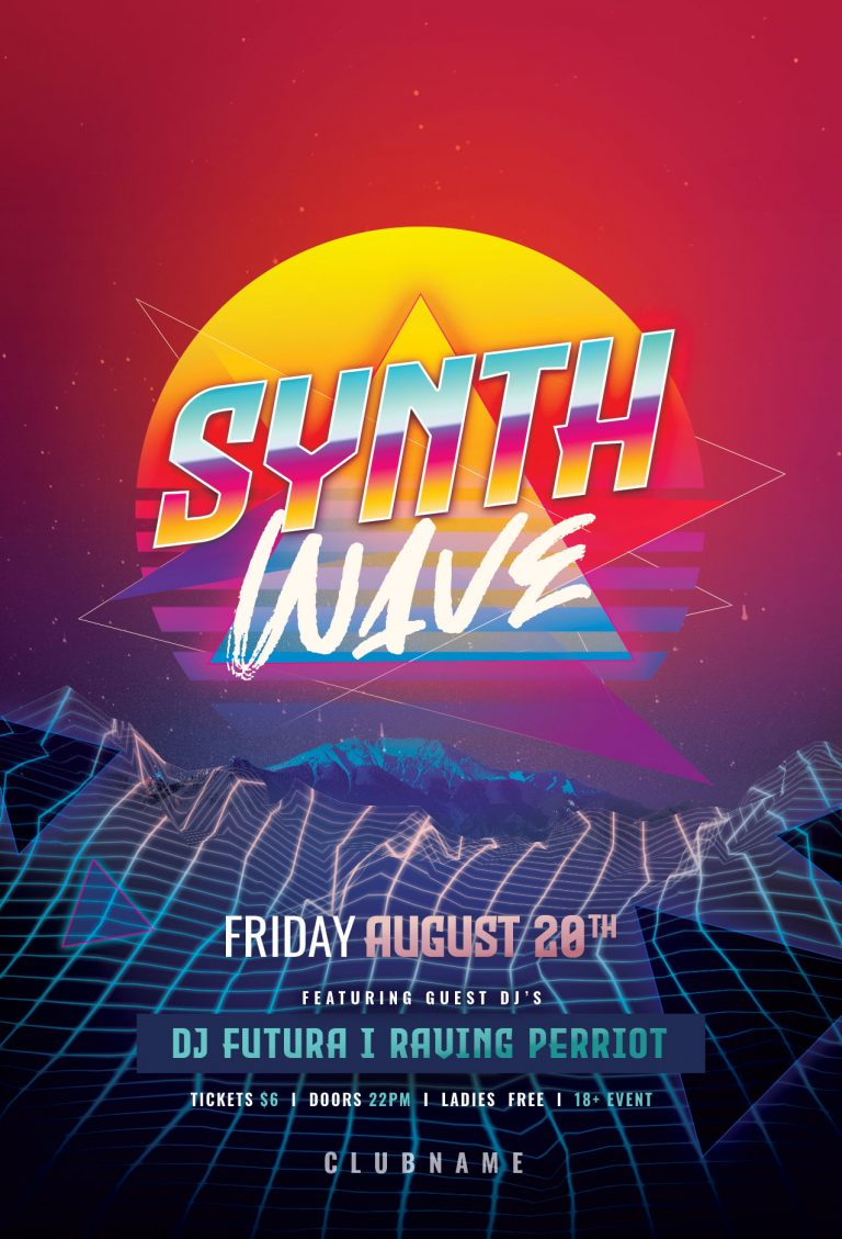 Synthwave Flyer Template
