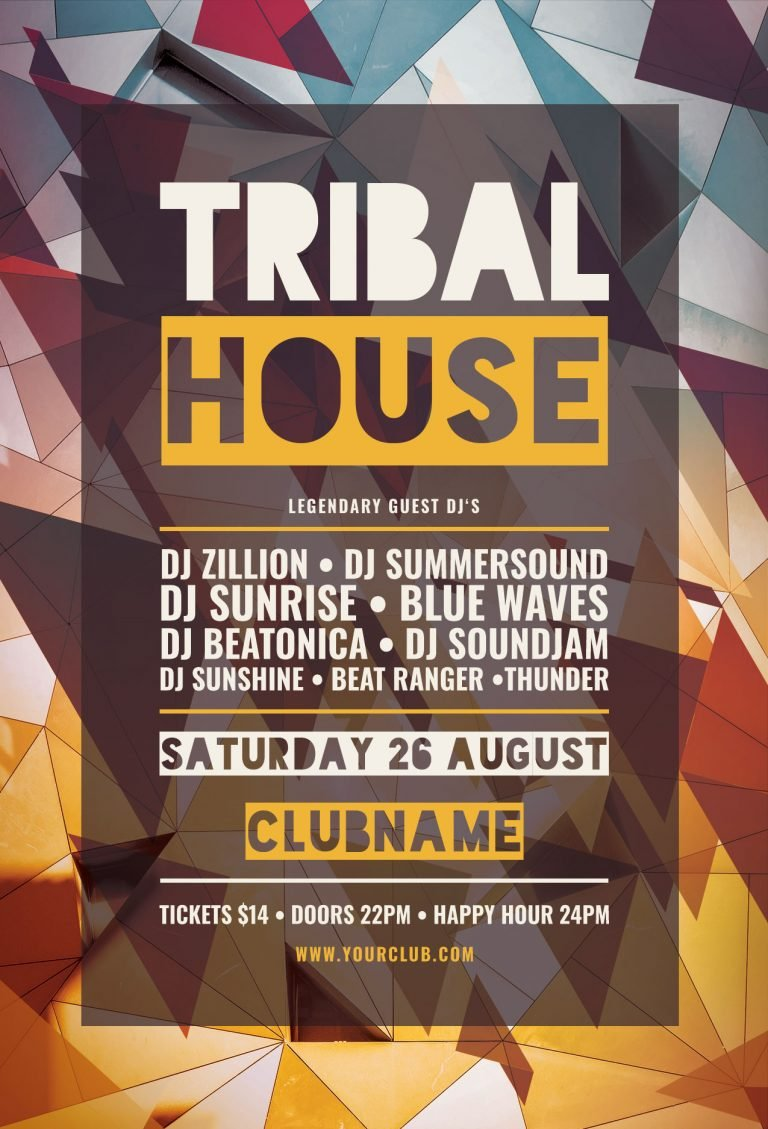 Tribal House Flyer Template