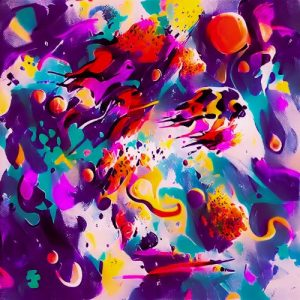 Abstract Explosion Of Colors