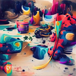 Dancing Shapes Of Colors